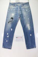Levis 501 Boyfriend Customized ( cod. WB417 ) tg. 50 W36 L30 jeans remake Lupin