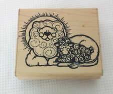 D.O.T.S. Rubber Stamp Q 132 The Lamb and Lion
