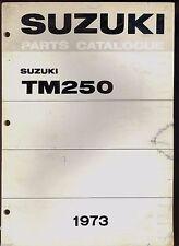 1973 SUZUKI TM250J TM250K MOTORCYCLE PARTS MANUAL / FACTORY ORIGINAL