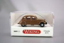 Wiking H0 1:87 Automodell Citroen 2 CV  braun 0809 11 NOS NEU OVP