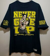 WWE John Cena 10 Years Strong Never Give Up T-shirt Loyalty Respect Wrestling XL