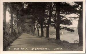 LOVELY RARE R/P POSTCARD - PINE WALK - ST CATHERINE'S - JERSEY C.1946 A.G.L.M.