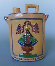 """Vintage Mexican Tlaquepaque relief bottle decanter San Juan de los Lagos 6 1/4"""""""