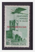 EGEO  1934   -   MONDIALI DI CALCIO   POSTA AEREA  LIRE 10   NUOVO *