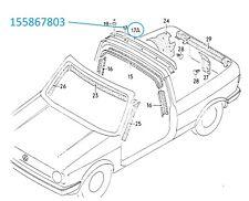 VW Mk1 Golf Cabriolet Arceau Roll Bar Trim 155867803 Remplacement Direct