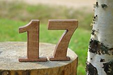 1-15 4'' Rustic Wooden Numbers, Free Standing Wedding Table Numbers
