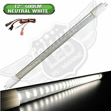 "RV LIGHT BULB T5 12"" fluorescent tube replacement LED 400 Lumen Neutral White"