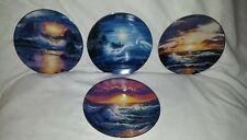 "The Bradford Exchange ""A Year in Paradise"" Decorative Ocean Plates (4) by Lassen"