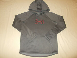 UNDER ARMOUR STORM 1 COLD GEAR GRAY HOODED SWEATSHIRT WOMENS XS EXCELLENT COND