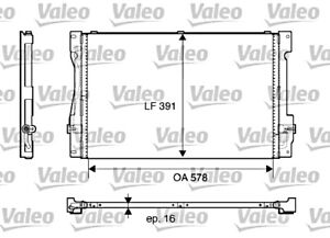 VOLVO 850 C70 S70 V70 1993-2002 AC Air Conditioning Condenser 2.0L-2.5L VALEO