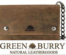 Greenburry Vintage Biker-Börse Kette Kellnerbörse Leder braun *!bestprice!*