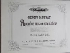 Georg Muffat 12 Toccatas Chaconnes Organ Unmarked