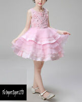 Vestito Bambina Abito Cerimonia Fiori Elegante Girl Party Princess Dress  CDR060 e683146a3a4