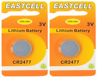 ☀️☀️☀️☀️☀️ 2 x CR2477 3V Lithium Batterie 1050 mAh ( 2 EINZELBLISTER ) EASTCELL