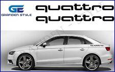 """1 Paar - AUDI """" quattro """" - Auto Aufkleber - Sticker - Decal - Car !<>!<>!"""