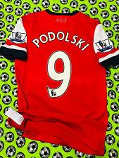 RARE Nike Arsenal FC Home Soccer Football Jersey 2012 2014 Lukas Podolski
