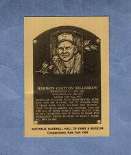 HARMON KILLEBREW, Twins Hall of Fame METALLIC Plaque-card(1/1,000 issued)creased