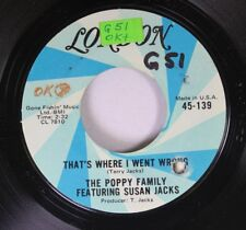 Pop Promo 45 The Poppy Family Featuring Susan Jacks - That'S Where I Went Wrong