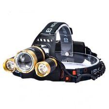 CREE hoofdlamp 3x XM-L T6 LED tot wel 5000 lumen - Goud