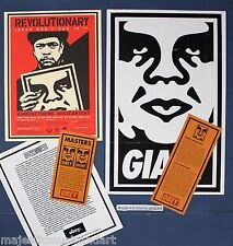 SHEPARD FAIREY 2001 GALLERY POSTER +GIANT MASTER +PRESS RELEASE+PRICE LIST RARE
