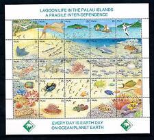 [56507] Palau 1990 Marine life Fish Shark MNH Sheet