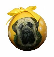 """""""Mastiff Christmas Ornament"""" Shatter Proof Ball Easy To Personalize A Perfect."""