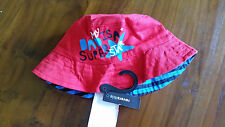 Reversible boys red & blue bucket hat toddler BNWT free post D92