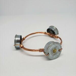 Handmade Winchester 12 GA Shell Bracelet Statement Copper Wire Statement Jewelry