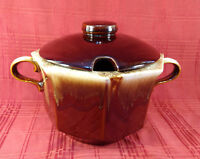 McCoy Pottery 226 Octagonal Brown Drip Ovenproof Covered Soup Tureen Bean Pot US
