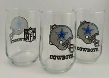 Vintage DALLAS COWBOYS HELMET Set of 3 16oz GLASSES-NFL Collectible Memorabilia