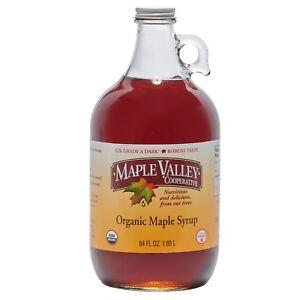 Maple Valley 64 oz Grade A Dark & Robust (Formerly Grade B) Organic Maple Syrup