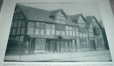 1892 Print WILLIAM SHAKESPEARE'S HOUSE STRATFORD ON AVON ENGLAND Birthplace