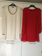 2 Dresses Cream And Red Size 12