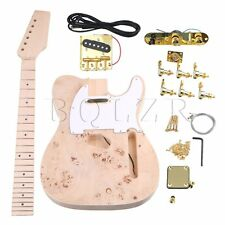BQLZR 2 Single Coil Pickup Electric Guitar DIY Builder Kit Maple Neck & Body