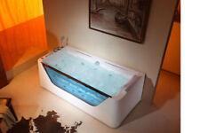 JETTED BATHTUB w/Waterfall,Whirlpool & Air Bubble & Massage,Heater.US Warranty