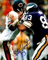 Autographed STU VOIGT 8X10 Minnesota Vikings Photo -w/ COA