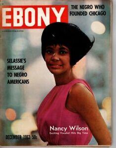 EBONY magazine December 1963 Nancy Wilson Haile Selassie Ossie Emlen Giants VTG