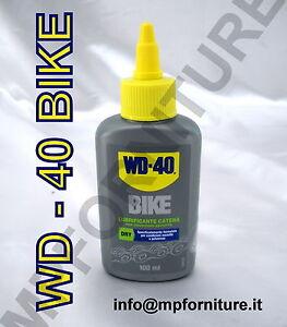 WD-40 wd40 BIKE LUBRIFICANTE PROFESSIONAL PER CATENA CAMBIO condizioni asciutte