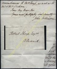 1828 Two Letters, REVEREND JOHN COLLINSON Rector of GATESHEAD