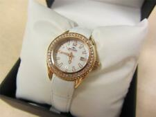 Rotary Women's Austrian Crystal White Dial Genuine Leather ALS00072-W-41 NEW!