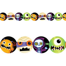 2.4m Haunted Halloween Party Boo Crew Printed Paper Cutout Garland Decoration