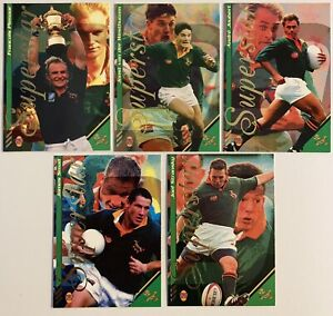 1996 RUGBY UNION SPORTS DECK SUPERSTAR TRADING CARD SET X 5 - TRADING CARDS MINT