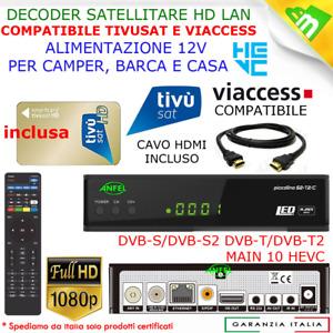 Decoder Combo Tivusat HD Con Scheda Tessera Tv Sat Satellitare Terrestre Dvb-T2
