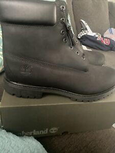 "TIMBERLAND 6"" Premium Black Waterproof Boots ( 10073 ) *NEW In Box MEN SIZE 6"