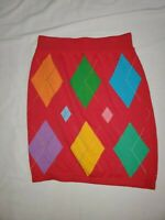 UNITED COLORS OF BENETTON SIZE 44 ARGYLE SKIRT