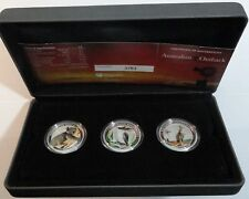 Original 2012 Australia Outback Silver Collection 3 x 1/2 oz proof coloured