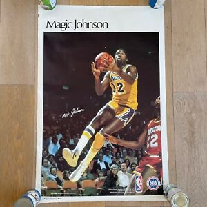 Magic Johnson Sports Illustrated Poster Number 4434 - Los Angeles Lakers 1980