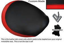 BLACK & BRIGHT RED CUSTOM FITS TRIUMPH THUNDERBIRD 1600 1700 FRONT SEAT COVER