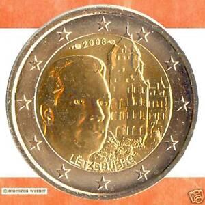 Sondermünzen Luxemburg: 2 Euro Münze 2008 Schloss Berg Sondermünze Gedenkmünze