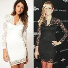 Elegant Women Sexy V-neck Pencil Mini Slim Lace Dress Cocktail Casual Party EN24